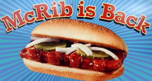 McRib is Back! McRib is Back! McRib is Back!